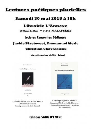 Malaucène, Emmanuel Merle, Christian Chavassieux, Corie Bizouard, Jackie Platevoet, Lucifer Elégie